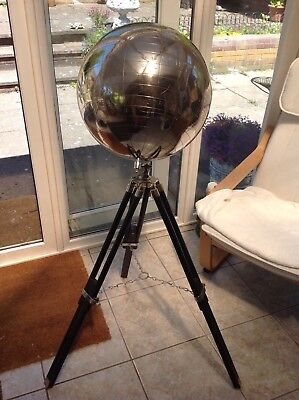 Large metal globe of the world