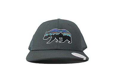 Patagonia Unisex 38200 Fitz Roy Bear Trucker Hat in Forge Grey - Retail    29.00 039c76789fbe