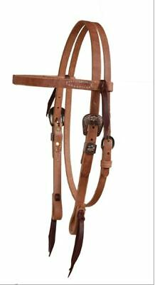 Berlin Custom Leather Cowboy Culture Fancy Browband Leather Headstall H350