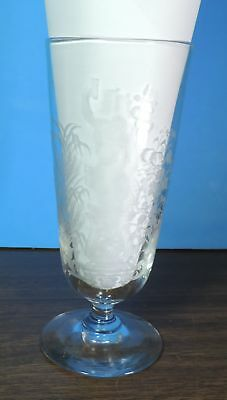 Vintage Early 1900's Gambrinus King of Beer Bier German Etched Glass
