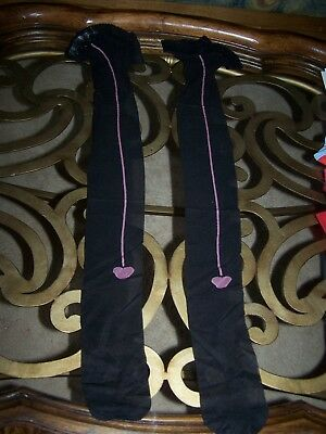 Fredericks of Hollywood Leg Ware Heart Thigh High Stockings Stay Up Pink 2X New!