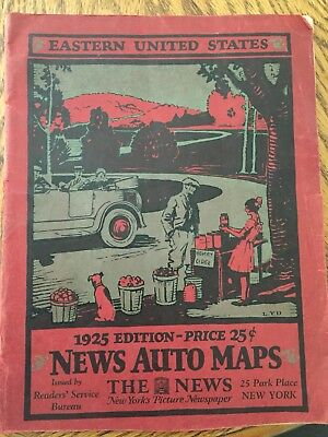 1925 Auto Trails Atlas of Eastern United States