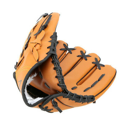 One Piece Left Hand Glove Baseball Softball PVC Leather Sport Outdoor 3 Size AU