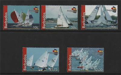 Barbados 2010 Fireball Sailing set 5v MNH