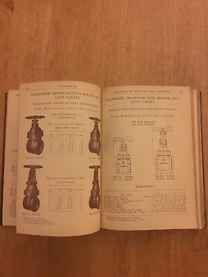 Steam Engine Walworth Catalog Water Gas Oil Air Wrought Pipe Cast Iron Tool 1900