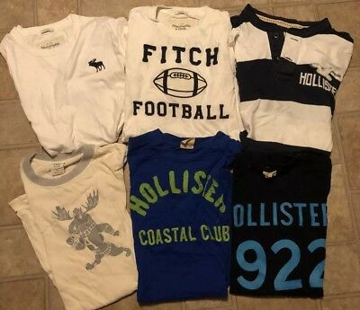 Men's Abercrombie & Fitch and Hollister Lot of 6 T Shirts Size Large