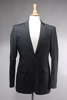 Burberry London Charcoal Virgin Wool Two Button Blazer Size 48R
