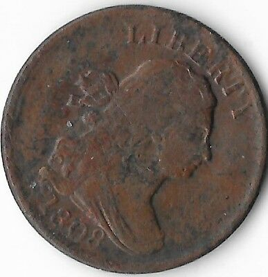 1808 half cent - I would call this coin a good.