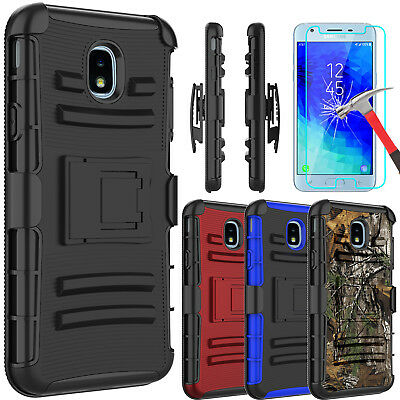 For Samsung Galaxy J3 V 2018/Star/Achieve Case With Kickstand + Screen Protector