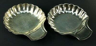 ! Pair of CHRISTOFLE, France Silver Shell Shaped Nut / Candy Dishes