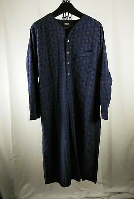 Men's XL NIGHT Shirt BROOKS BROTHERS blue plaid cotton AND at $9.99