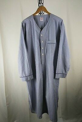 Men's XL night shirt BROOKS BROTHERS blue cotton SEERSUCKER and at $9.99