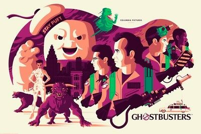 GHOSTBUSTERS MONDO SDCC 2018 EXCLUSIVE  GLOW IN THE DARK PRINT. (pre order)