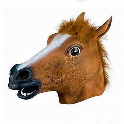 Rubber Horse Head Mask Fancy Dress Party New year Adult Costume High Quality