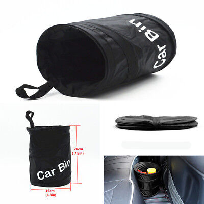 Pop-Up-Tidy-Bin-Black-Car-Foldable-Travel-Rubbish-Waste-Dust-Collapsible-Basket