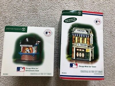 Dept 56 Christmas In The City Chicago White Sox Tavern & Refreshments Stand
