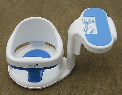 Safety First 1st Tubside Swivel Baby Bath Tub Seat Chair Ring Bathtub White Blue