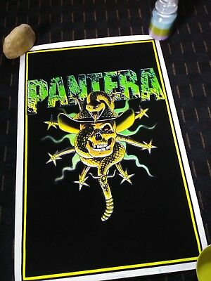Pantera Poster Lot Blacklight, Hostile, Rare