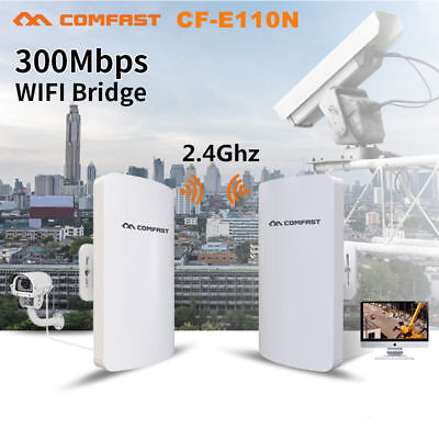 COMFAST Outdoor Wireless Access Point High Power AP WiFi Bridge Router CPE