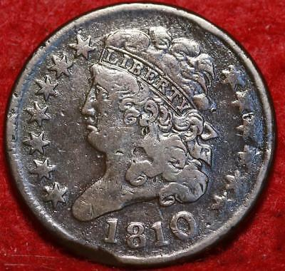 1810 Philadelphia Mint Copper Classic Head Half Cent 13 stars