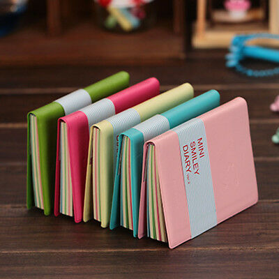Portable Pocket Notebook Diary Memo Book PU Leather Writing Stationery Random