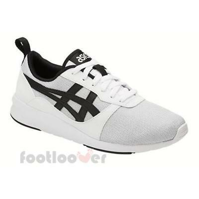 Asics Lyte Jogger HN7Z2 0190 Mens White Black Shoes Casual Running Trainers