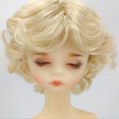 1/6 BJD Doll Full Wig 6-7inch 16-18cm for SD DZ DOD LUTS Short Curly Hair