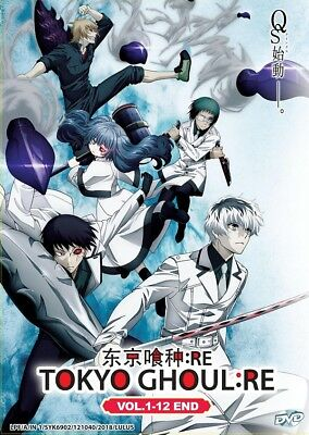 DVD Japan Anime Tokyo Ghoul: RE Complete Series (1-12 End) English Dub Version