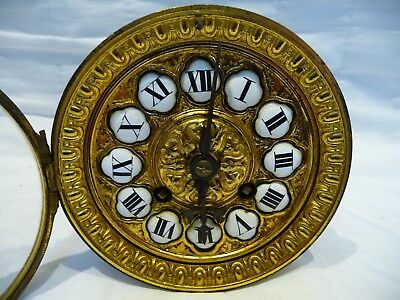 Antique French Striking Clock Movement For Restoration Convex Glass 1860'S
