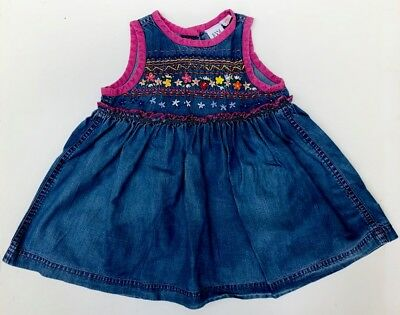 Girls denim dress with embroidered detail by GAP - age 12 - 18 months