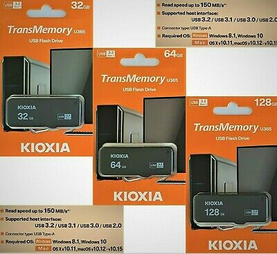 Toshiba TransMemory U365 USB 3.0 Stick 32GB 64GB USB 3.0 Flash Drive 150MB/S NEU