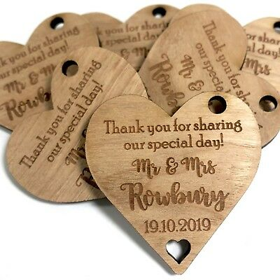 Personalised Wedding Favours Thank You Place Setting Engraved Table Decorations