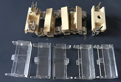 20 x 5mm PCB Mount Fuse Holder & Cover - Pack of 5