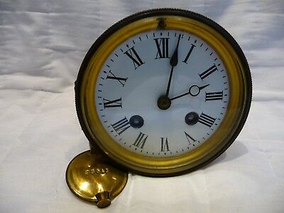 Antique French Striking Clock Movement For Restoration Working Order 1890s