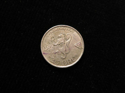 Norway Silver 25 Ore 1909
