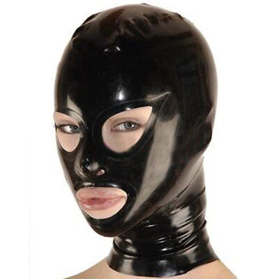Latex Hood Open Unique Eyes Handmade Rubber Mask for Catsuit Club Wear Costumes
