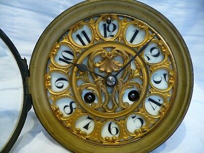 Antique French Large Gong Striking Clock Movement For Restoration 1860'S Mougin