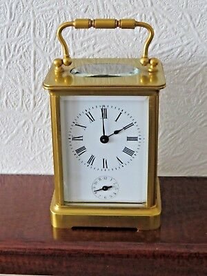 8 Day Brass Carriage Alarm Clock