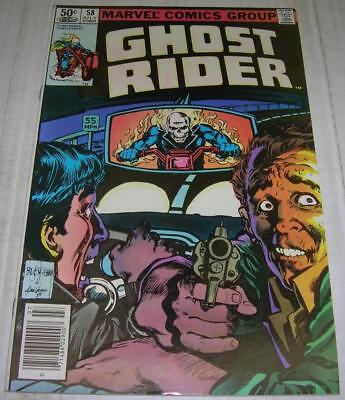 GHOST RIDER #58 (Marvel Comics 1981) Great Bill Sienkiewicz cover (FN/VF) RARE