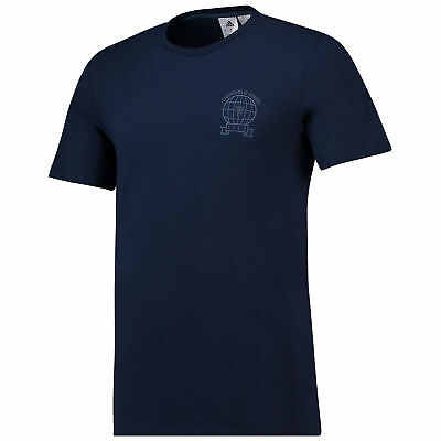 Manchester United Graphic T Shirt Navy Mens adidas