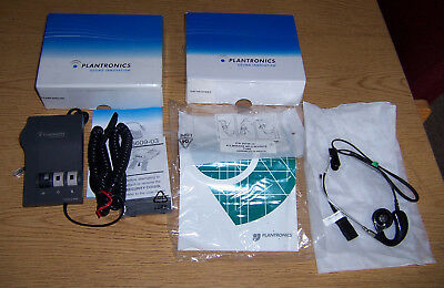 Plantronics H41 Mirage Headset and M22 AMP, In Box