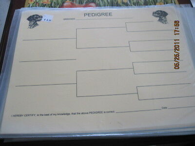 German Wirehair Pointer Blank Pedigree Sheets Pack 10