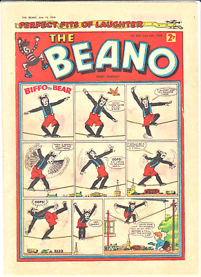 BEANO # 830 June 14th 1958 issue comic The 60th birthday present/gift
