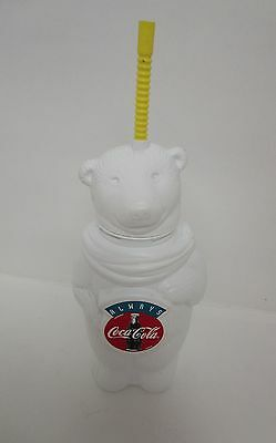 Coca Cola Always Polar Bear closed Drinking Container with Straw