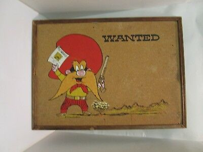 Yosemite Sam Cork Board with Wooden Frame for School or Office  Vintage Unique