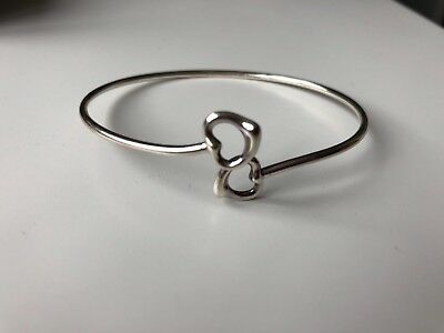 3745a147f TIFFANY & CO Elsa-Peretti Double Open Heart Bangle Sterling silver ...