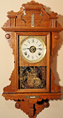 Seth Thomas 8Day Wall Clock Alarm/Thermometer/Level -1897 #104 - Works Great!