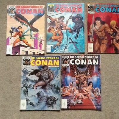 Stan lee presents the savage sword of conan thebarbarianx5no 104,106,108,110,112