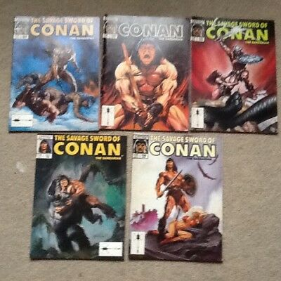 Stan lee presents the savage sword of conan the barbarian  x5 no  156 to 160