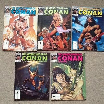Stan lee presents the savage sword of conan the barbarian  x5 no 141 to 145